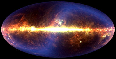 En la imagen se evidencia el origen del universo desde la teoría inflacionaria; en esta se evidencia una explosión, generándose de esta un fuego que da origen a los diferentes componentes que se encuentran en el universo.